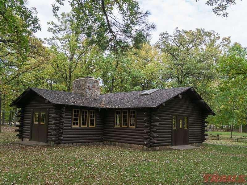 WPA log shelter