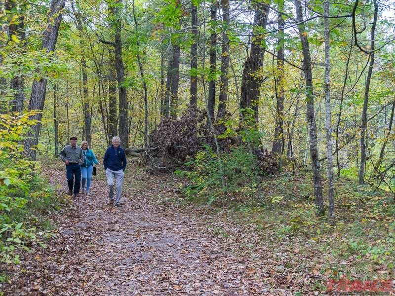 Fall hike through Lindbergh State Park