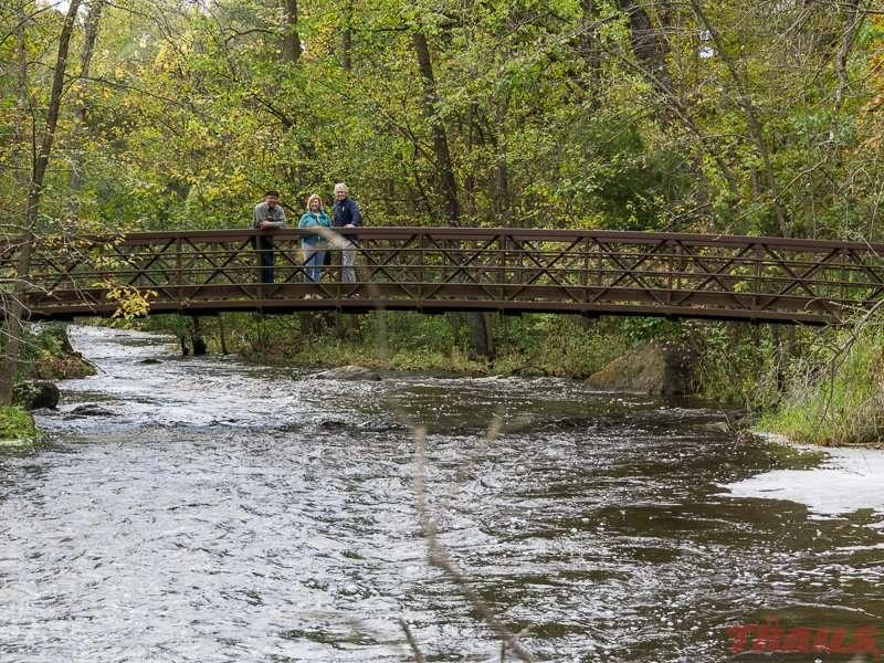 Foot bridge over Pike Creek