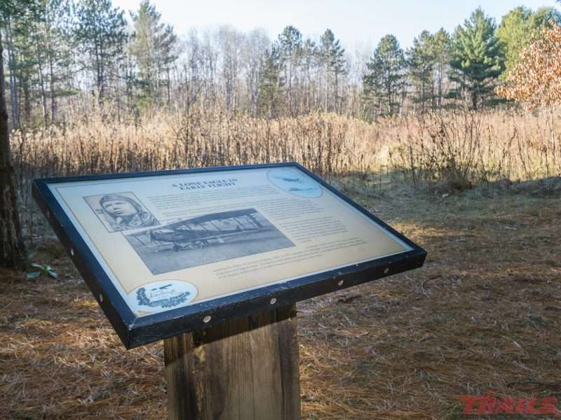 The site where Charles Lindbergh landed his Jenny