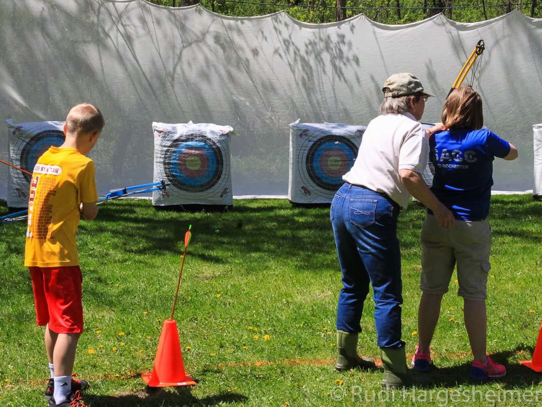 Archery event at the annual Bluebell Festival at Carley State Park
