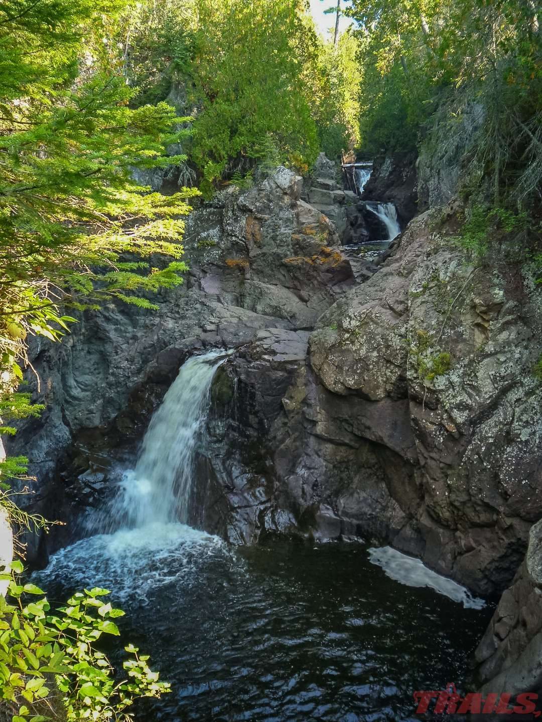 Cascade River State Park is known for its series of Cascading waterfalls