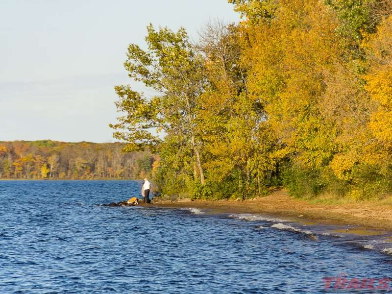 The quarter-mile long beach is the main attraction at Father Hennepin State Park
