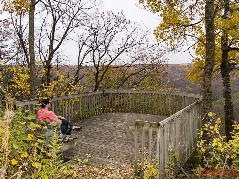 Scenic overlook platform at Forestville/Mystery Cave State Park