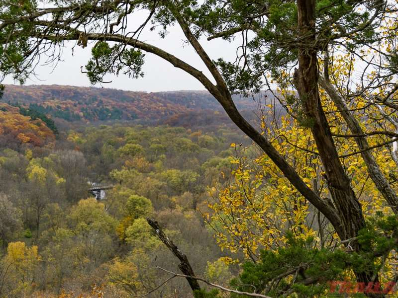 View of the Root River from the scenic overlook at Forestville/Mystery Cave State Park