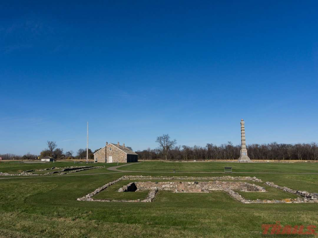 The remains of Fort Ridgely at Fort Ridgely State Park