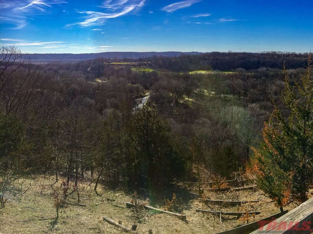 View from Airplane Hill at Fort Ridgely State Park
