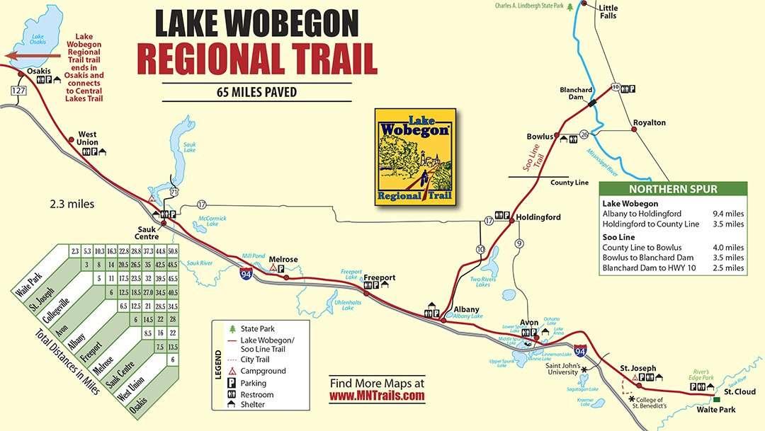 Lake Wobegon Trail Map