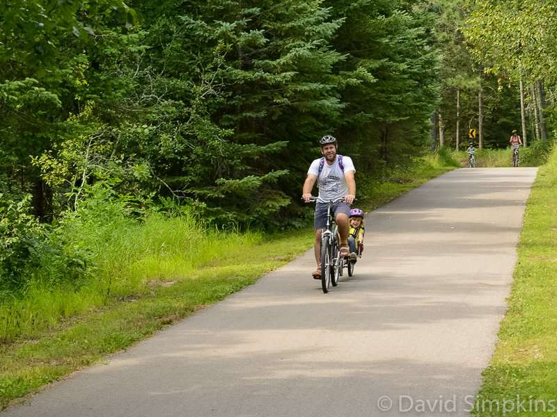 Family ride through the park at Itasca State Park