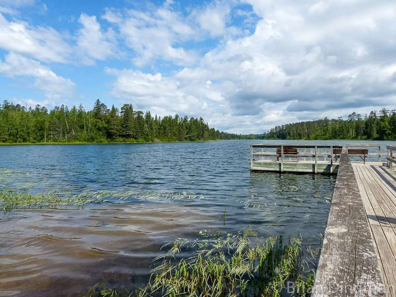 Fishing dock on the south end of Lake Itasca at Itasca State Park
