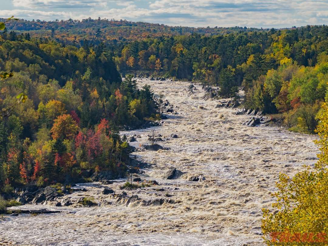 The raging St. Louis River at Jay Cooke State Park