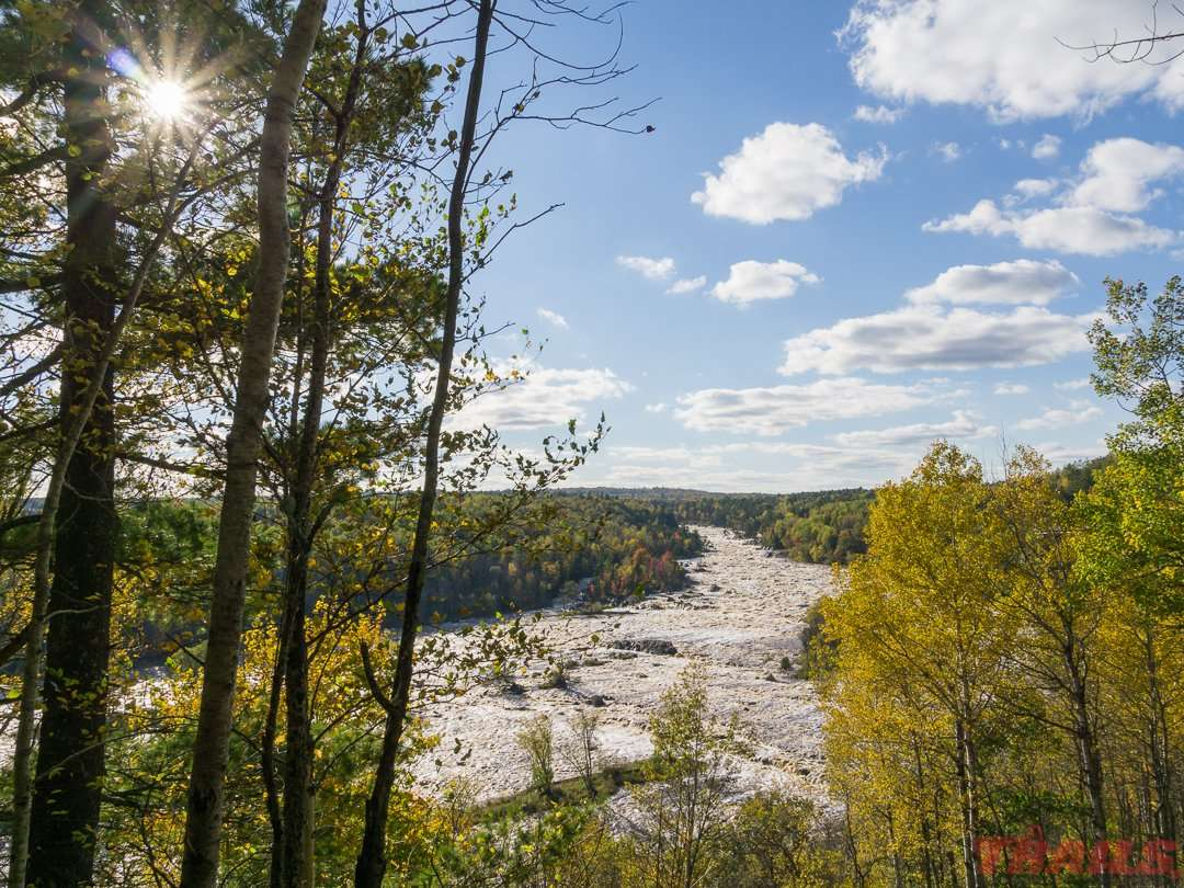 The St. Louis River as seen from a scenic overlook near the picnic area at Jay Cooke State Park
