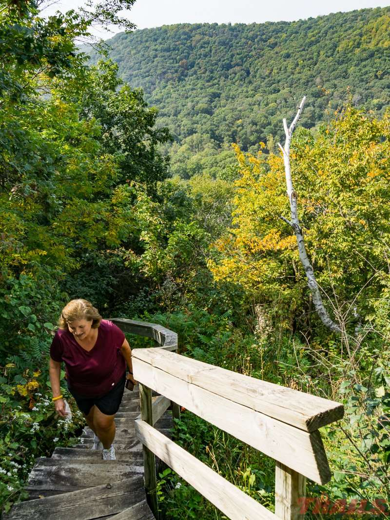 It's a steep climb, but the view is worth it at John A. Latsch State Park