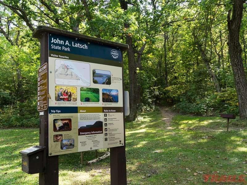 interpretive sign at John A. Latsch State Park