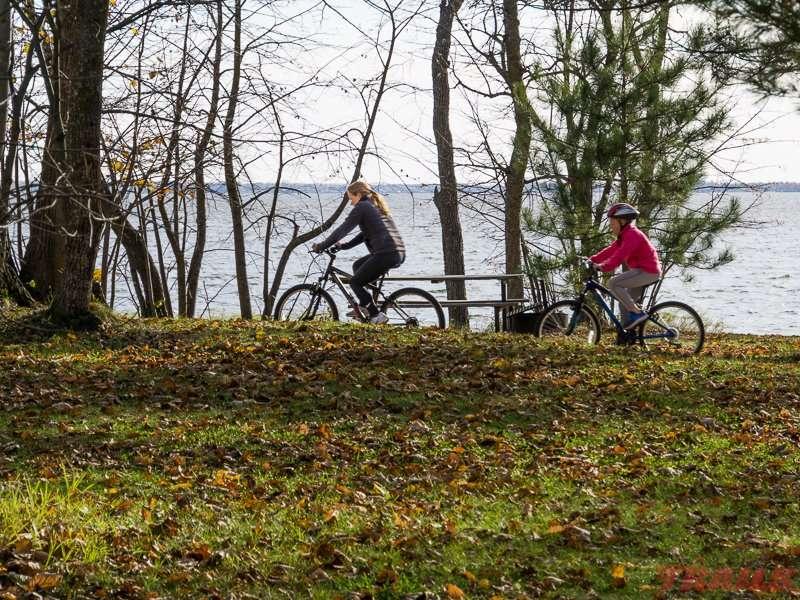 A fall bike ride along the shores of Lake Bemidji at Lake Bemidji State Park