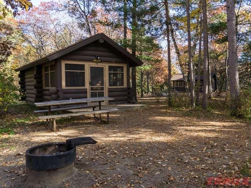Camper cabin at Lake Bemidji State Park
