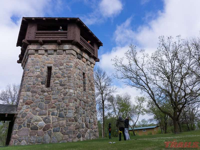 The iconic water/observation tower was built by the WPA in the 1930s at Lake Bronson State Park