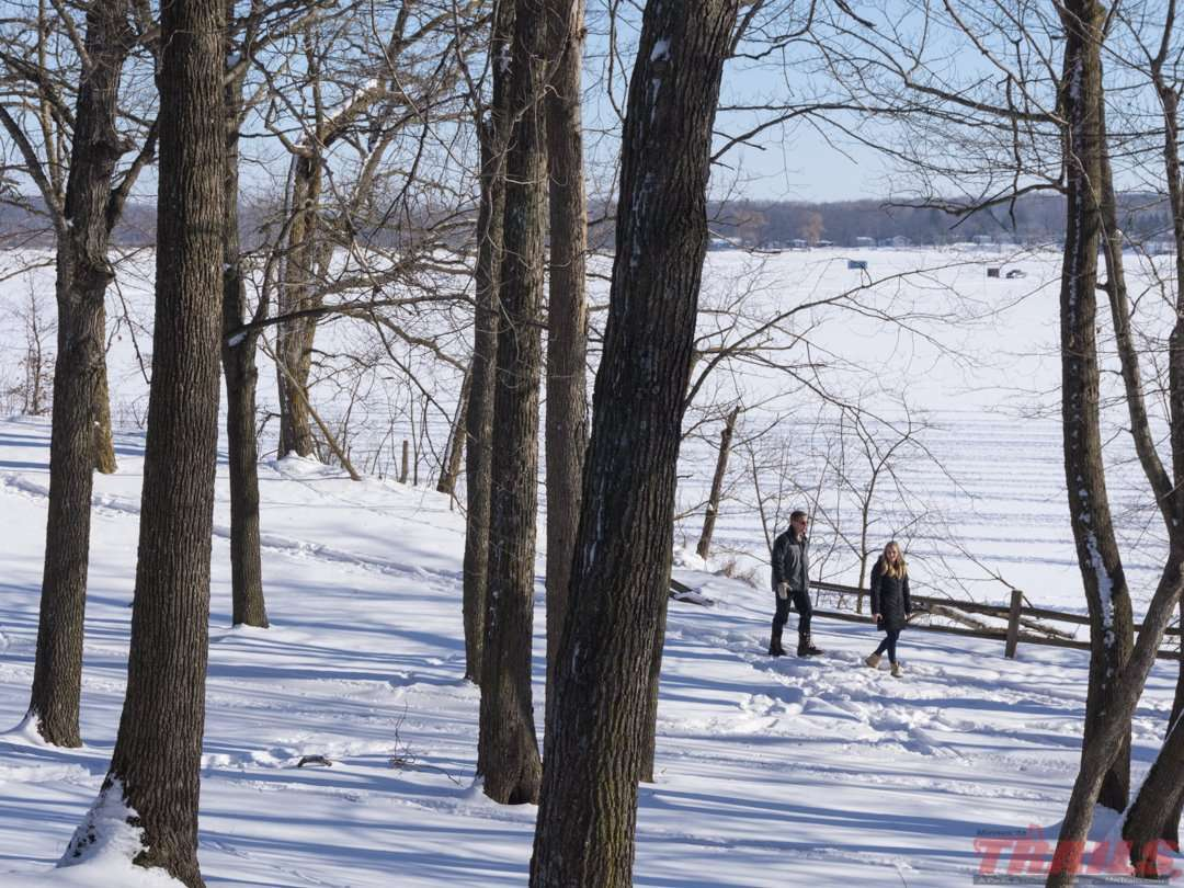 A winter walk around Lake Carlos at Lake Carlos State Park