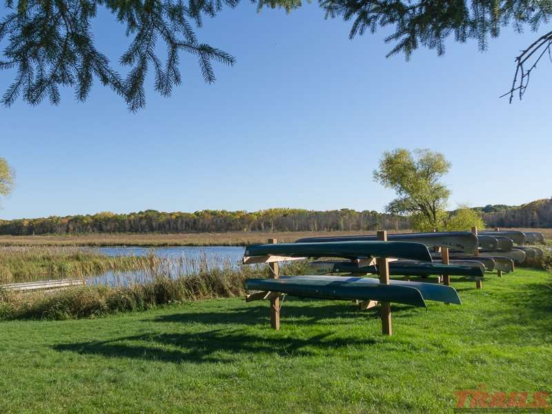The canoe landing at the Rum River at Mille Lacs Kathio State Park