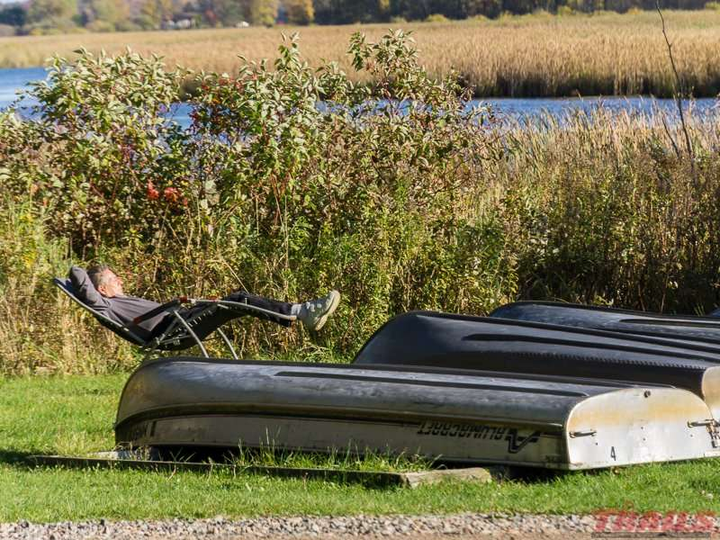 Catching a nap after a boat ride on the Rum River at Mille Lacs Kathio State Park