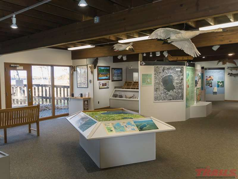 Interpretive Center interior at Mille Lacs Kathio State Park