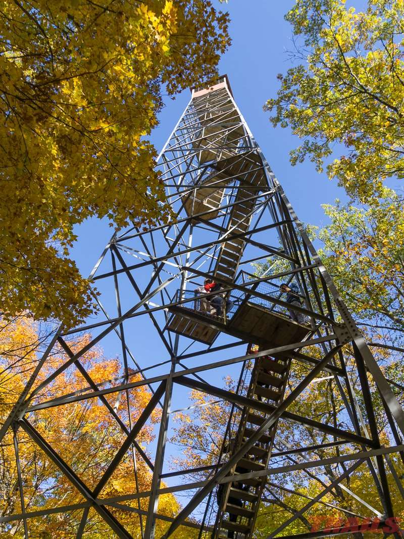 The 100-foot fire tower at Mille Lacs Kathio State Park