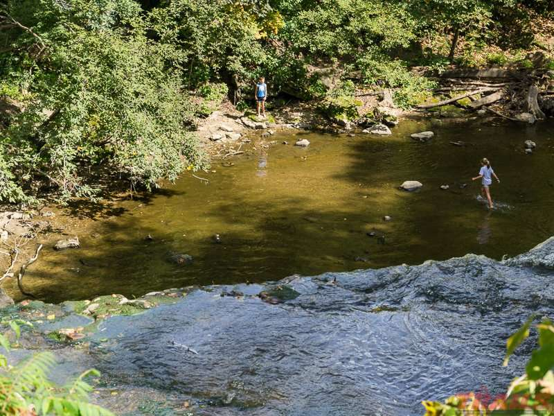 Hiking trails give you access to the river bottom at Minneopa State Park