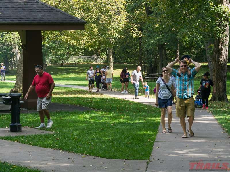 The falls area is a popular day-use destination at Minneopa State Park
