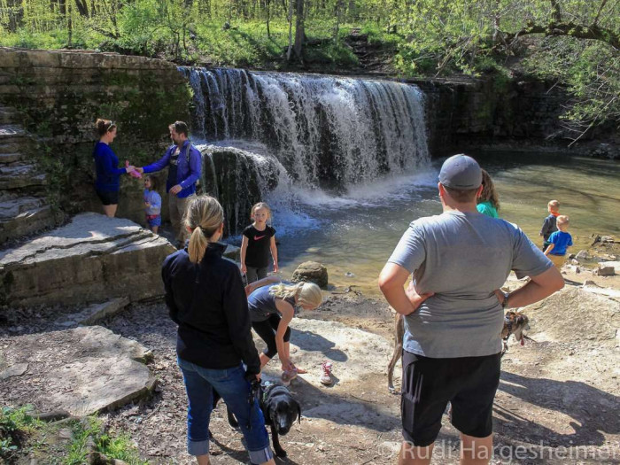 A hike to Hidden Falls makes for a great family outing at Nerstrand Big Woods State Park