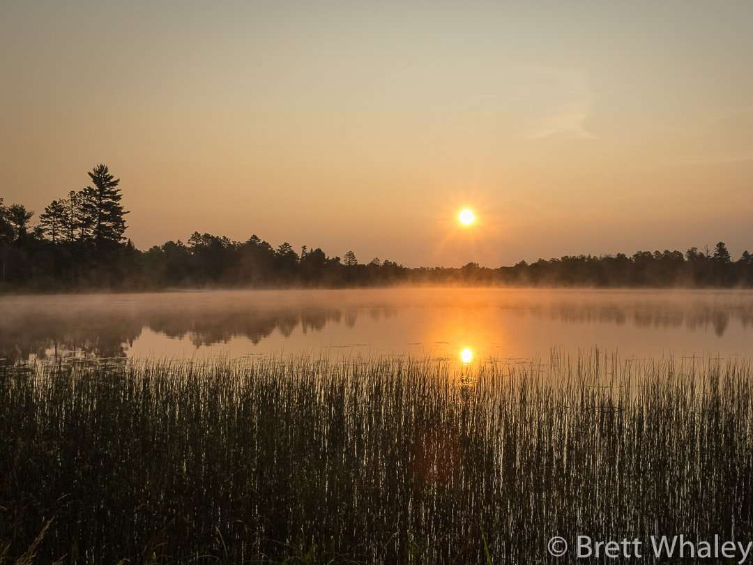 Sunrise on Lake Shumway at Savanna Portage State Park