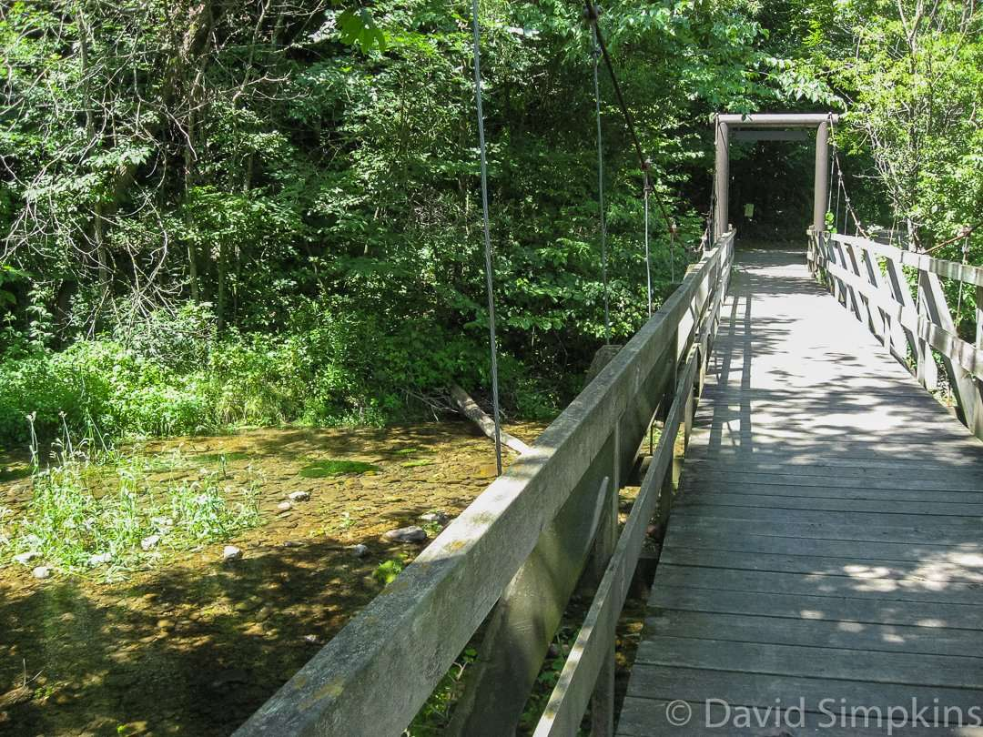 One of many bridges across Beaver Creek at Bever Creek Valley State Park