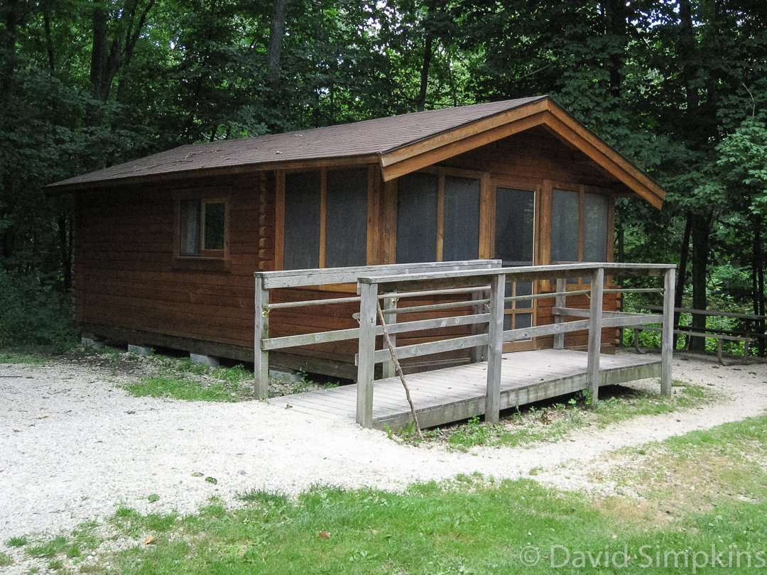The park's camper cabin is available May through October at Bever Creek Valley State Park