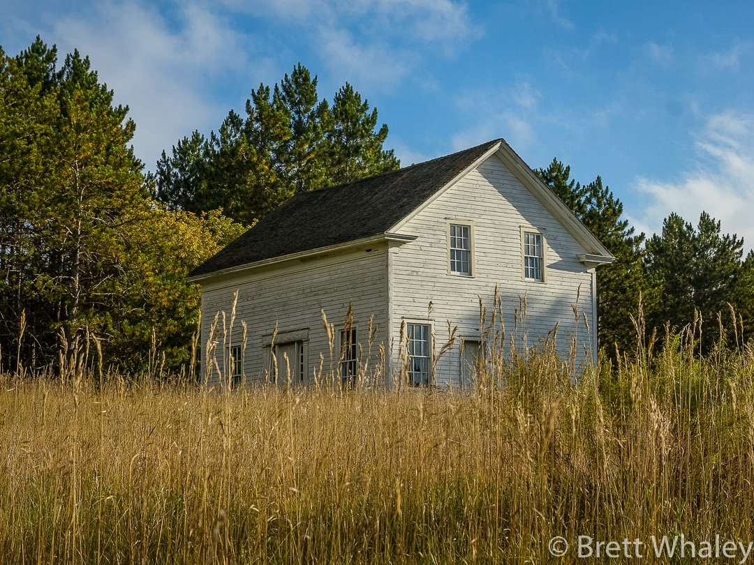The historic Beaulieu House just off the boardwalk at Crow Wing State Park