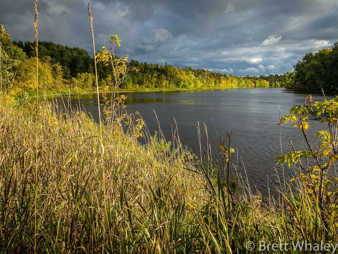 Scenic views of the Mississippi River at Crow Wing State Park