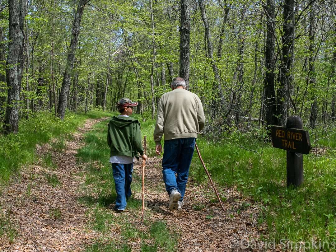 Going for a spring hike on the Red River Trail at Crow Wing State Park
