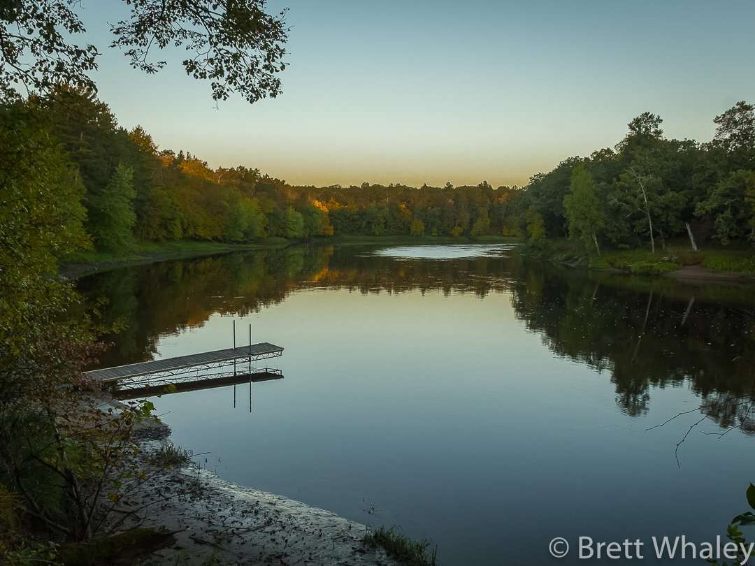 The Mississippi River boat landing at Crow Wing State Park