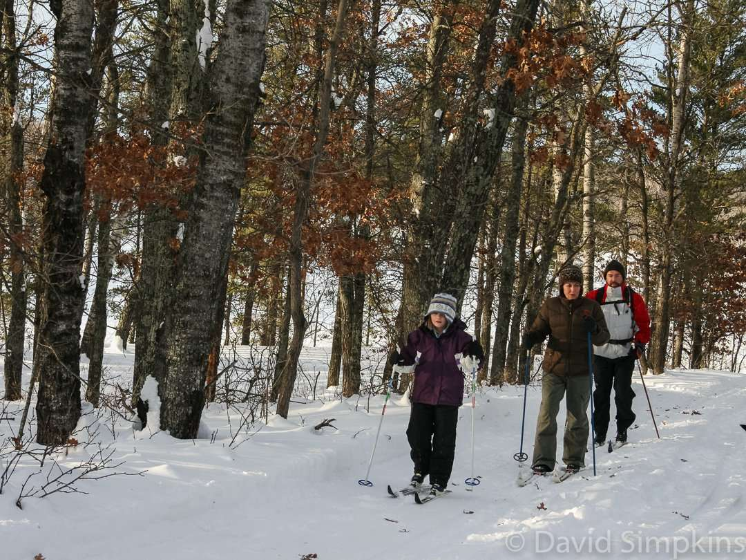 Skiers like to break their own trails here at Crow Wing State Park