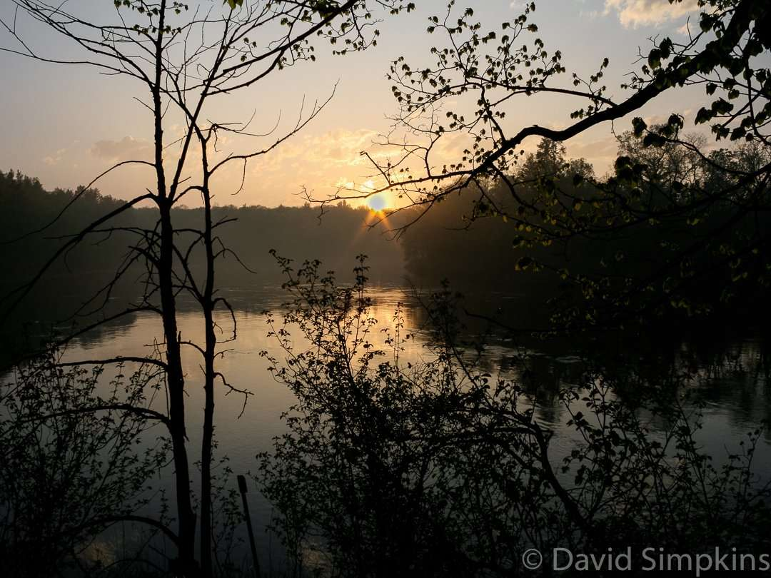 Sunset over the Mississippi River at Crow Wing State Park