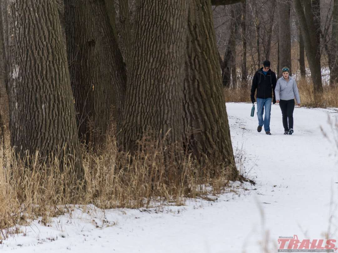 A winter walk along the Minnesota River at Fort Snelling State Park