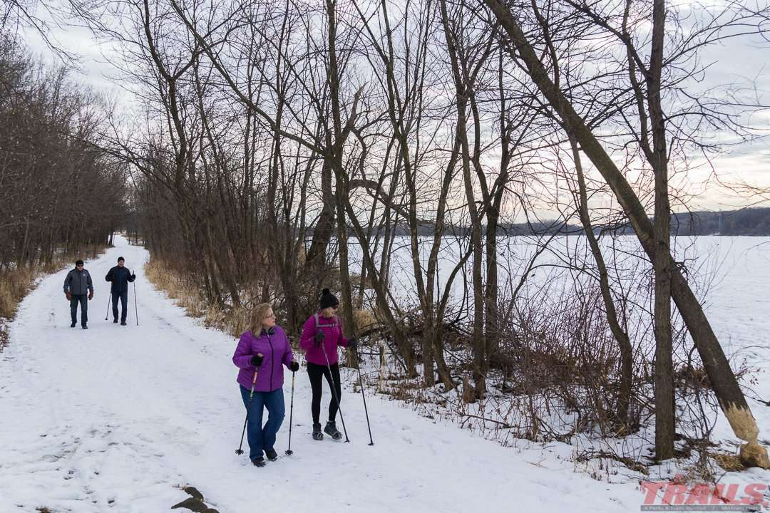 A winter hike along Snelling Lake at Fort Snelling State Park