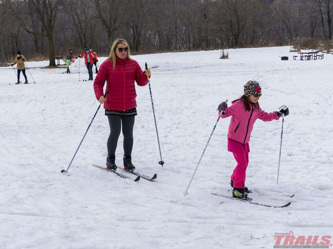 Winter Trails Day is a good day to try out a new sport at Fort Snelling State Park