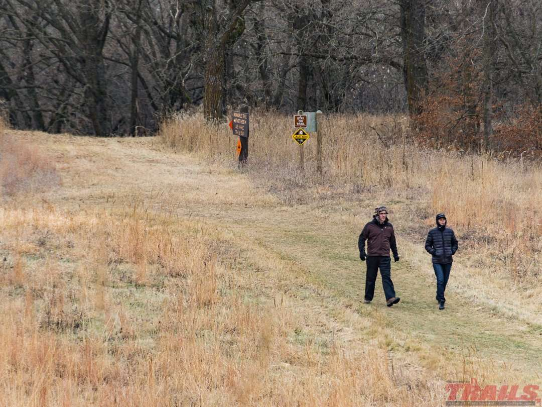Some of the hiking trails travel through oak savanna and remnant grasslands at Sibley State Park