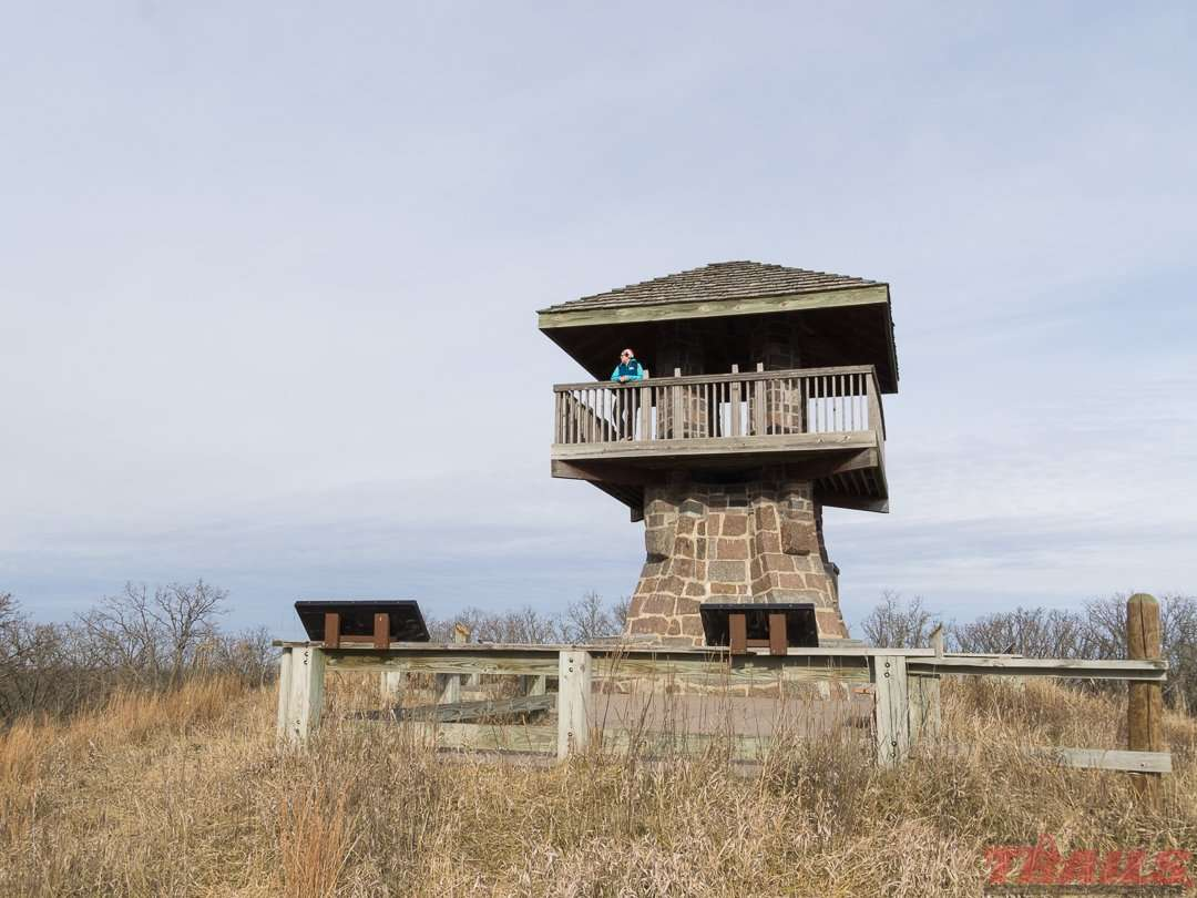 The observation tower on top of Mount Tom gives you a great view of the surrounding area at Sibley State Park