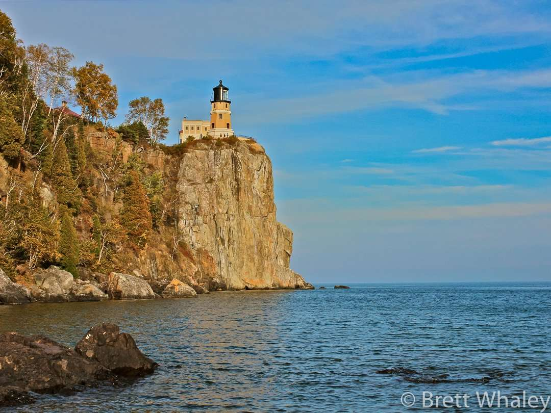 The historic lighthouse is one of the most photographed lighthouses in the US at Split Rock Lighthouse State Park