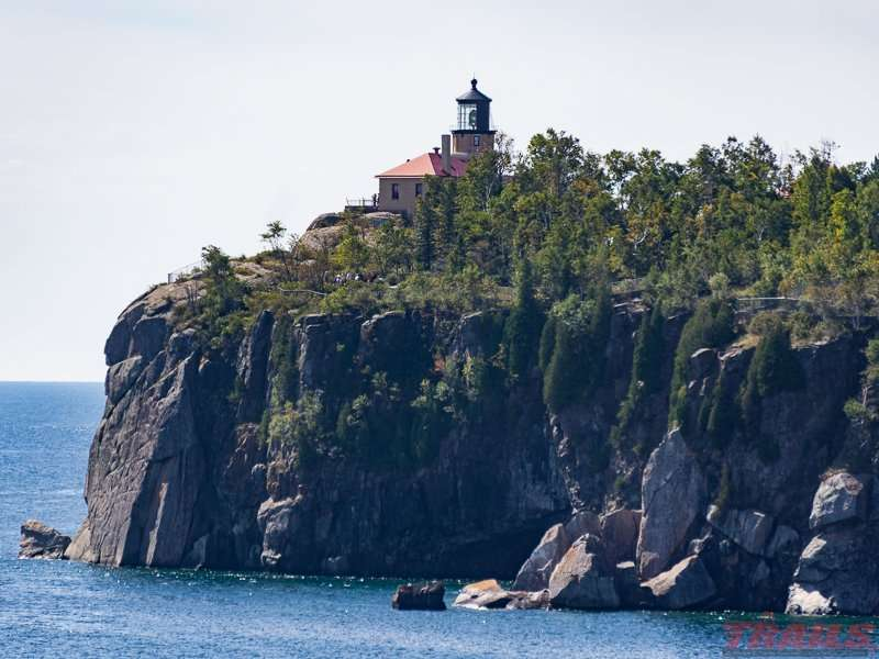 View of the lighthouse from Gold Rock Point at Split Rock Lighthouse State Park