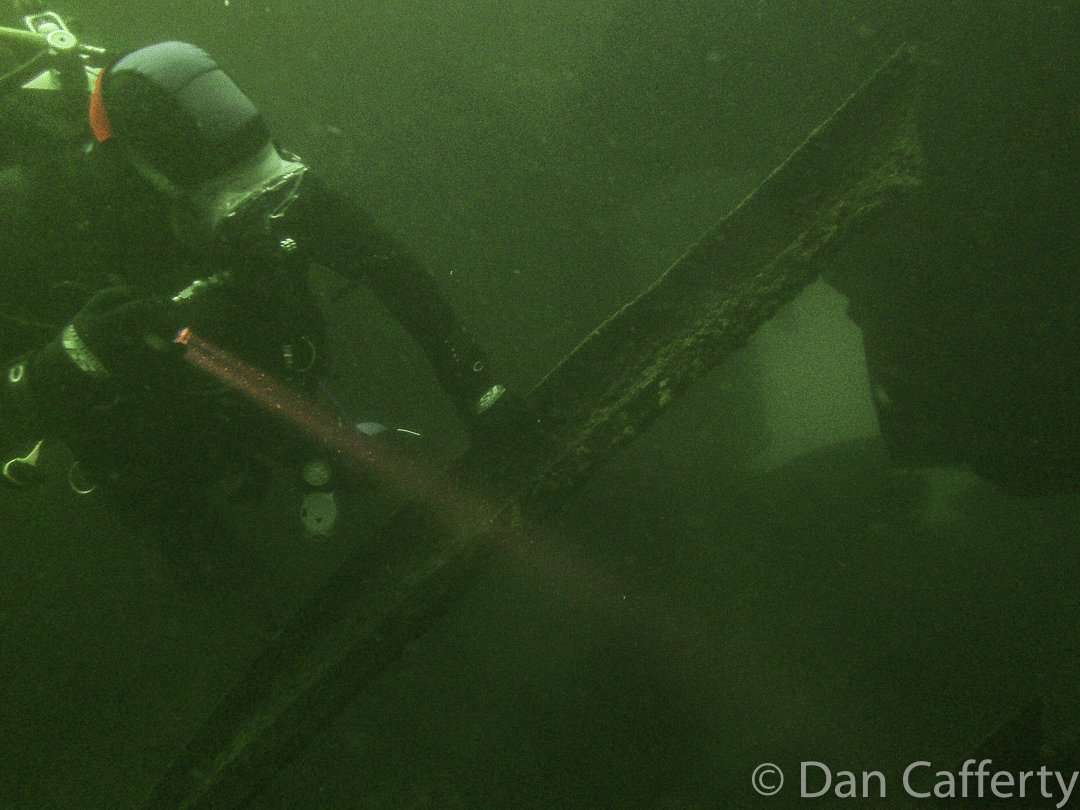 The wreck sits at a depth of about 80 feet at Split Rock Lighthouse State Park