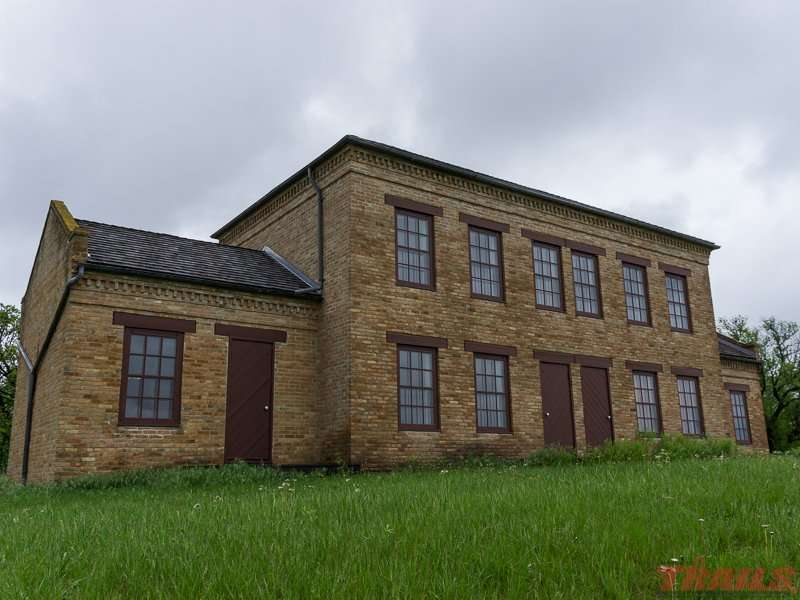The restored employee building is the only remaining structure of the historic Yellow Medicine Agency at Upper Sioux Agency State Park