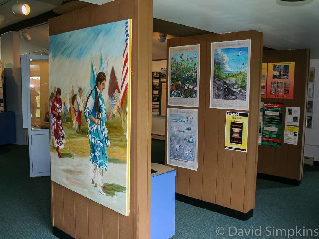 Displays at the interpretive center at Upper Sioux Agency State Park