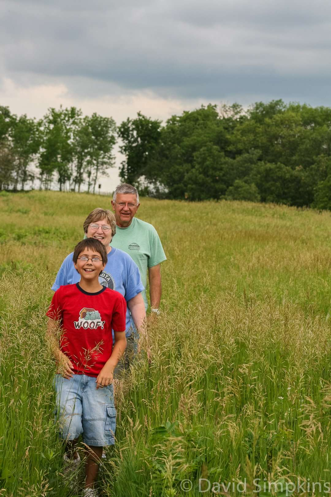Family hike on the Mink Trail at Upper Sioux Agency State Park