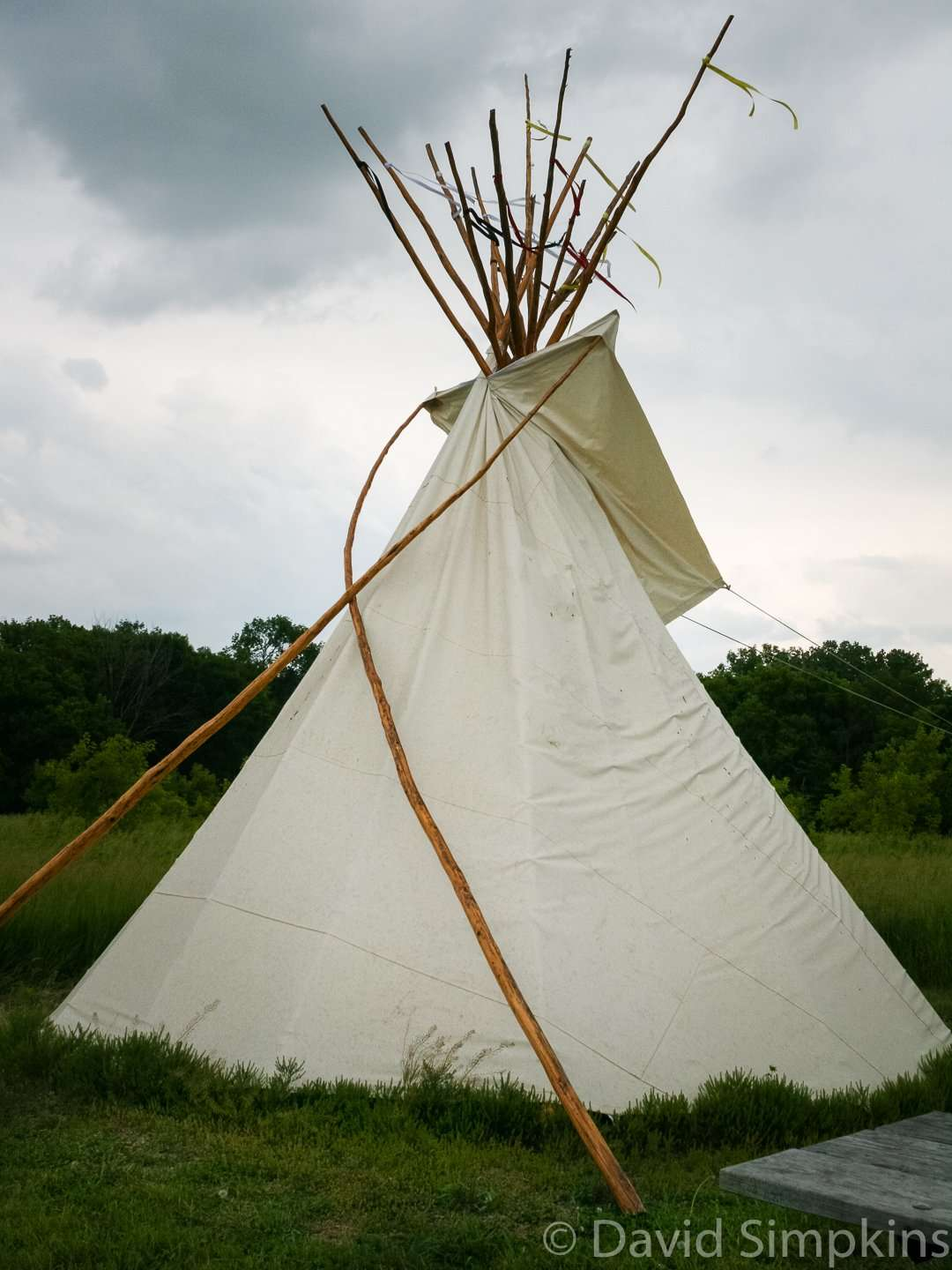 Tipis are eighteen feet in diameter and sleep six at Upper Sioux Agency State Park
